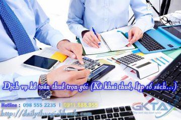 Dịch vụ kế toán thuế trọn gói (Kê khai thuế, lập sổ sách…)