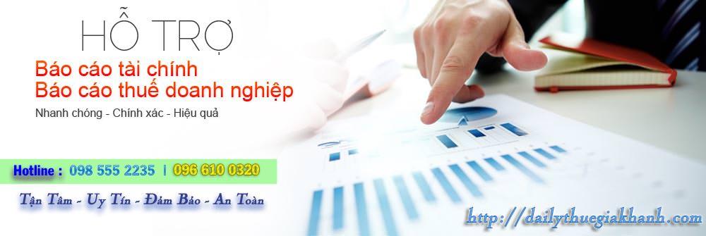 kê khai thuế và làm báo cáo tài chính 2
