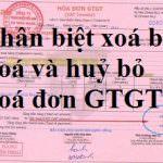 Hướng dẫn Phân biệt hóa đơn xóa bỏ, hóa đơn hủy