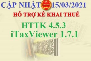 Tổng Cục Thuế Nâng Cấp HTKK 4.5.3 và Itax viewer 1.7.1 ngày 15/3/2021