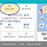 Hướng dẫn nén file PDF và tách file pdf bằng phần mềm PDF24 Creator